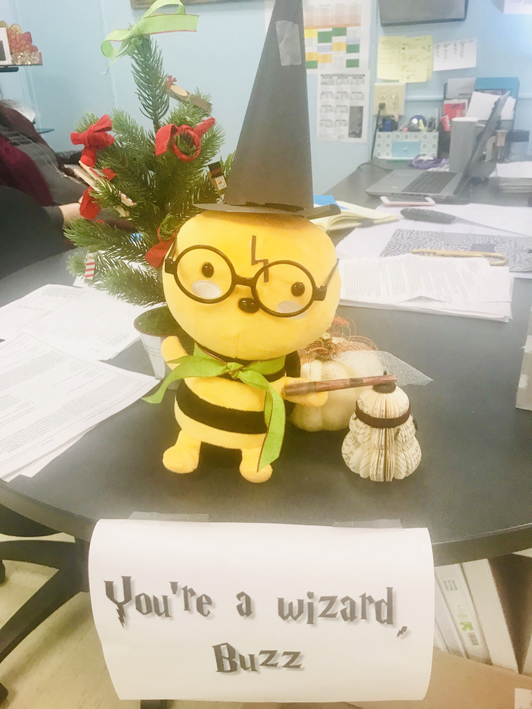 Bee dressed up as a wizard from the Harry Potter series.
